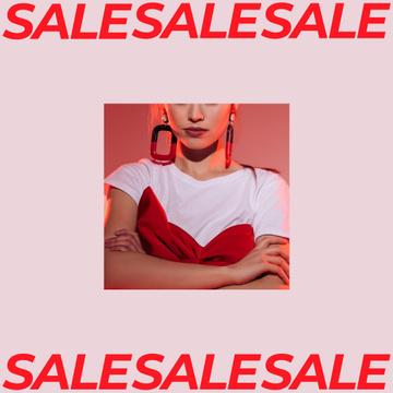 Women's Day Sale Girl with Stylish earrings