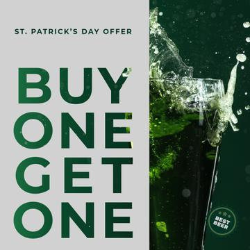 Saint Patricks Day Beer Offer