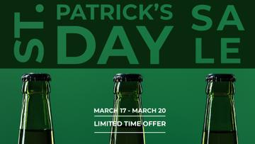 St.Patricks Day Sale with bottles of Beer