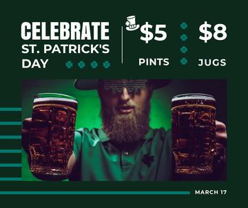 Saint Patrick's Day leprechaun with beer