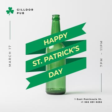 St. Patricks Day Beer with ribbon