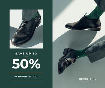 Fashion Sale man in Stylish Shoes