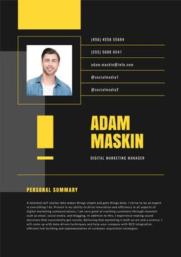 Marketing Manager professional profile