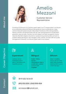 Customer Service Representative professional profile