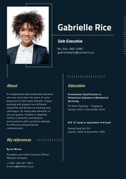 Professional Sale Executive profile