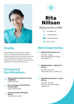 Professional Nurse skills and experience