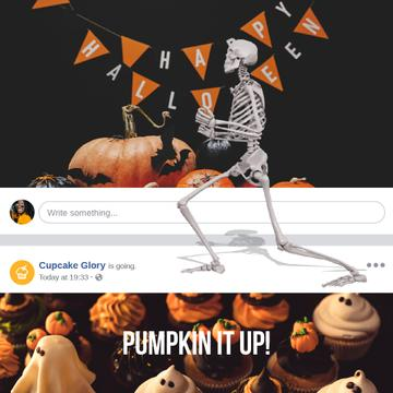 Halloween with Funny dancing skeleton