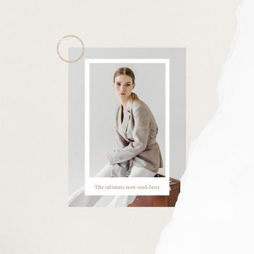Fashion ad Elegant Woman in Stylish Clothes