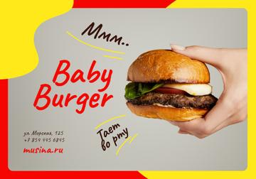 Special Offer with tiny Burger