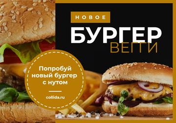 Special Offer with tasty Veggie Burger
