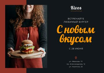 Special Offer with Woman holding Burger