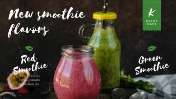 Healthy nutrition offer with Smoothie bottles