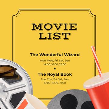 Movie Night Invitation with Popcorn