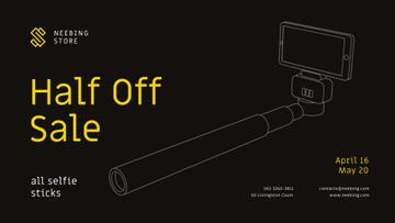 Gadgets Sale with Smartphone and monopod
