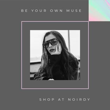 Fashion Store ad Stylish woman wearing Sunglasses