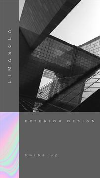 Exterior Design Offer with modern glass Building