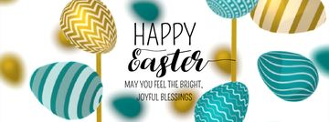 Easter Greeting with rotating colorful Eggs