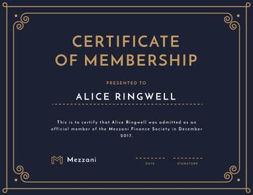 Finance Society Membership confirmation in blue