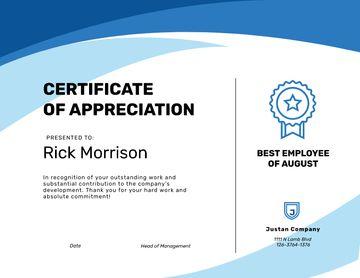 Best Employee Appreciation in Blue