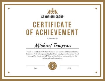 Winning Festival award confirmation in golden