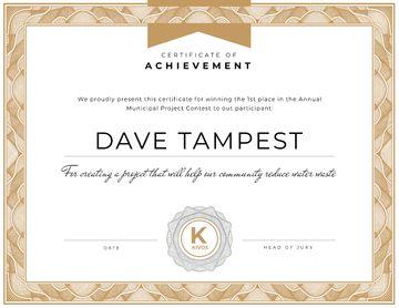 Municipal Contest Achievement in frame