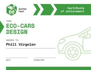 Achievement in Eco Cars design in green