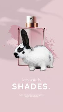 Parfume Easter Offer with little Rabbit