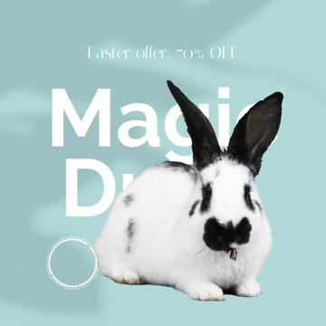 Magic Drop Offer with cute Easter Bunny