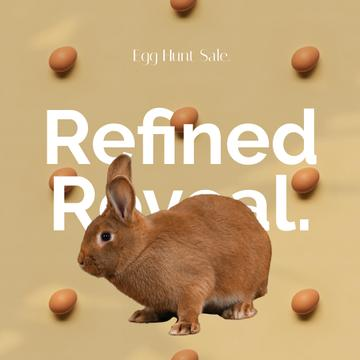Egg hunt Sale with Easter Bunny