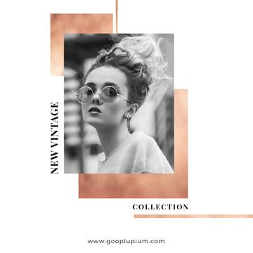 New Vintage Collection Sale with Stylish Girl