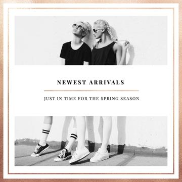 New Fashion Arrivals Offer with two Young Girls