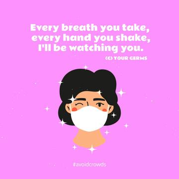 Coronavirus awareness with Woman wearing Mask