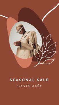 Fashion Store Sale Woman in Sunglasses