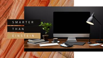 Computer on designer Working Table