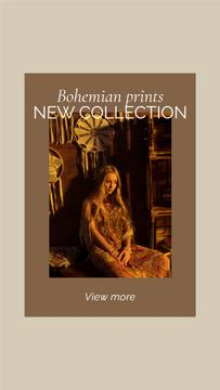 New Collection Offer with Woman in Bohemian Outfit