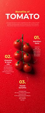 Food infographics about Benefits of Tomato