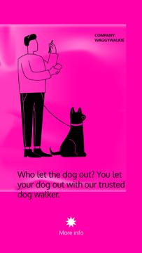 Dog Walking services with Man walking Pet
