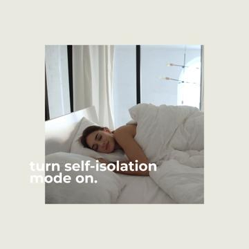 Woman on Self-Isolation wallowing in bed