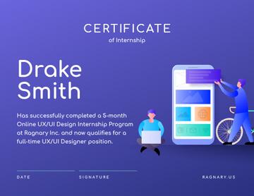 Online design School Internship in Blue