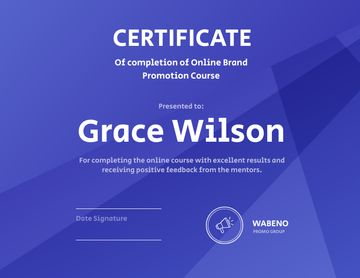 Online Business Program Completion diploma
