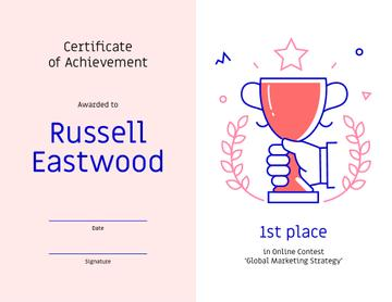 Marketing Contest award Achievement with Cup