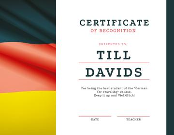 German Language courses Recognition with flag