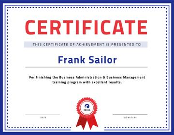 Business Course program Achievement with stamp