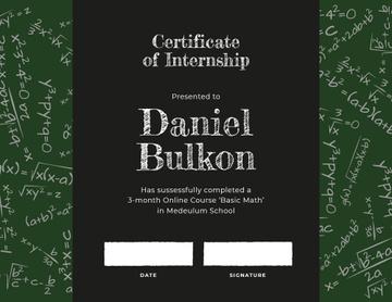 Math Course Internship completion