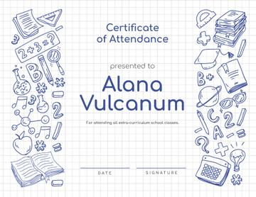 School Courses Attendance confirmation with science icons