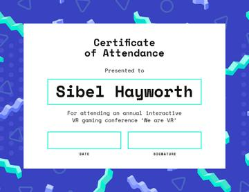 VR gaming conference Attendance in blue