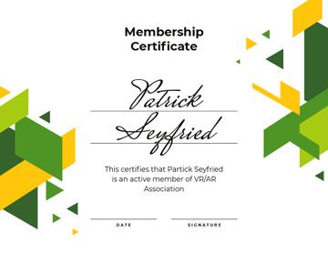 VR association Membership confirmation