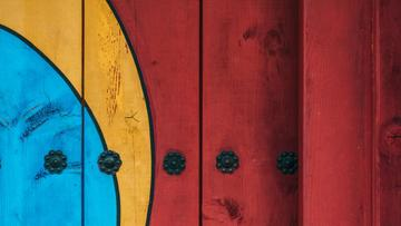 Colorful Painted fence