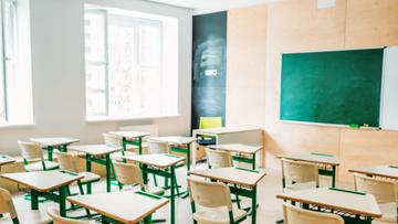 Empty light classrom