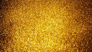 Gold shiny sequins